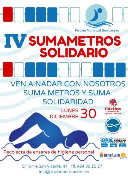 Sumametros Solidario: Ven a nadar con nosotros