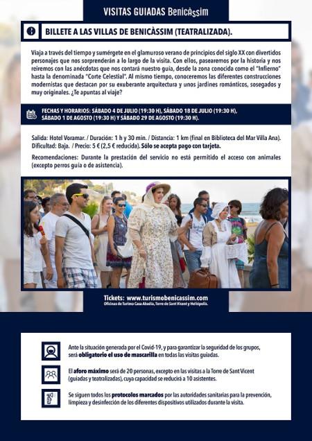 Programa oficial de visitas guiadas: Billete a las Villas de Benicàssim (Teatralizada)