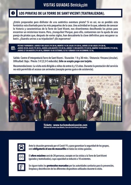 Programa oficial de visitas guiadas. Los piratas de la Torre de Sant Vicent (teatralizada infantil)