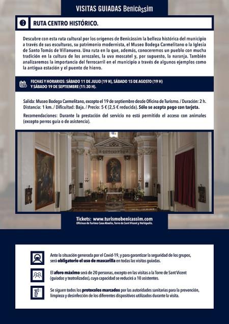 Programa oficial de visitas guiadas: ruta del centro histórico