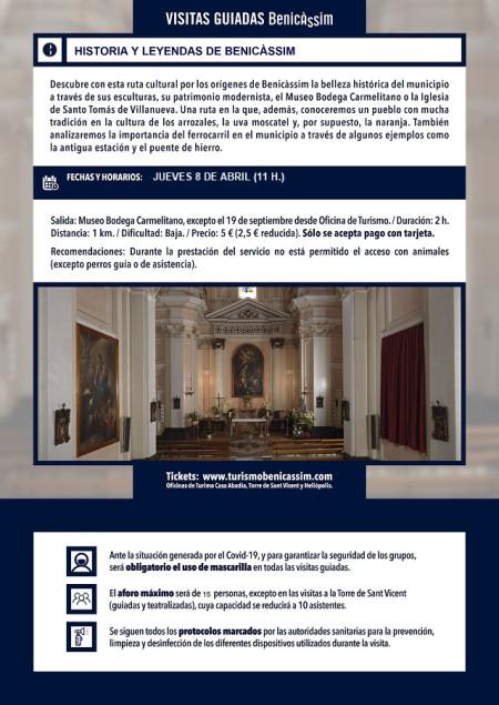 Programa oficial de visitas guiadas: historia y leyendas de Benicàssim
