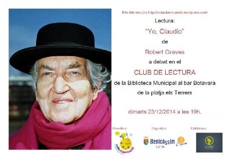 Yo Claudio, a debate en el Club de Lectura