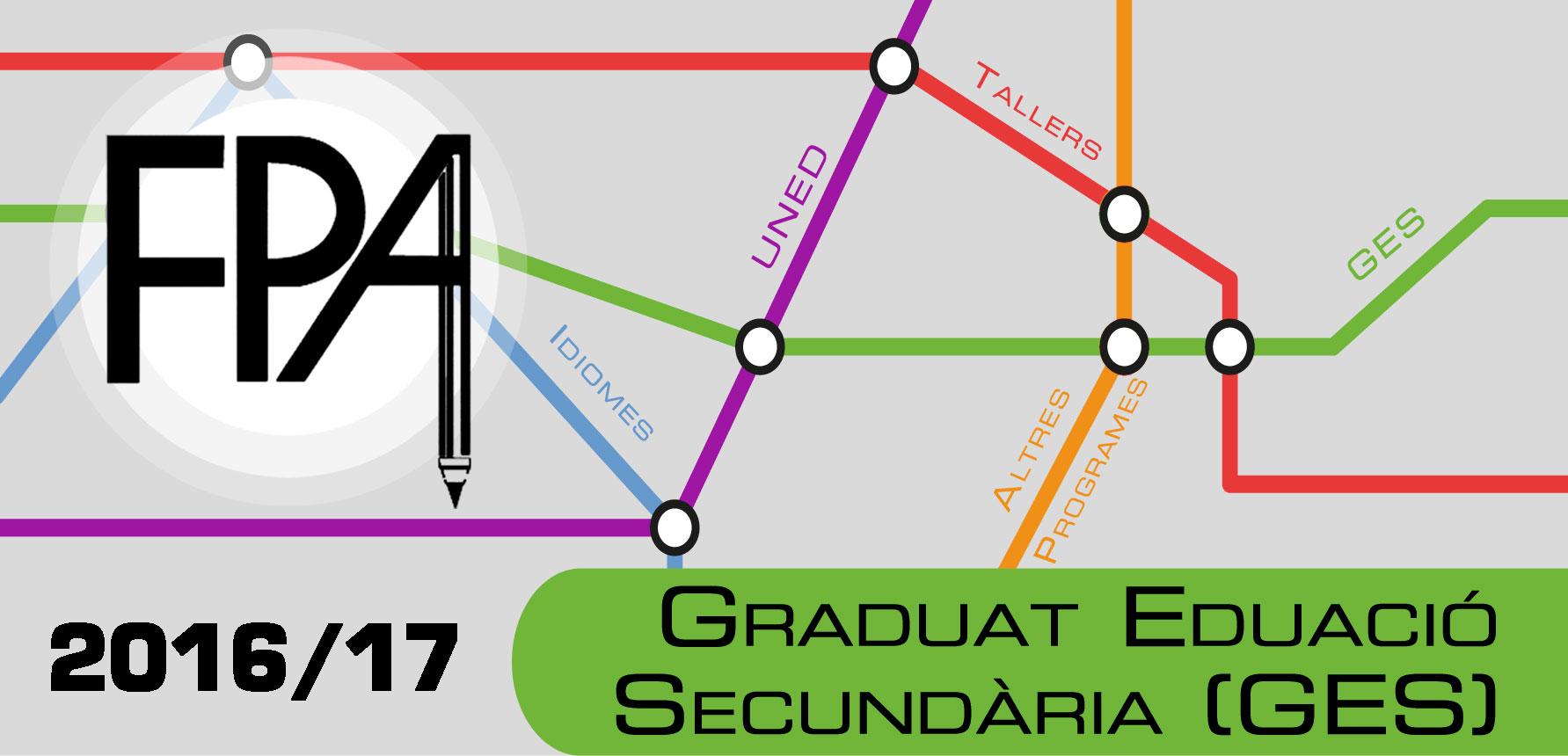 FPA CURS 2016-17 Graduat Educació Secundária (GES)